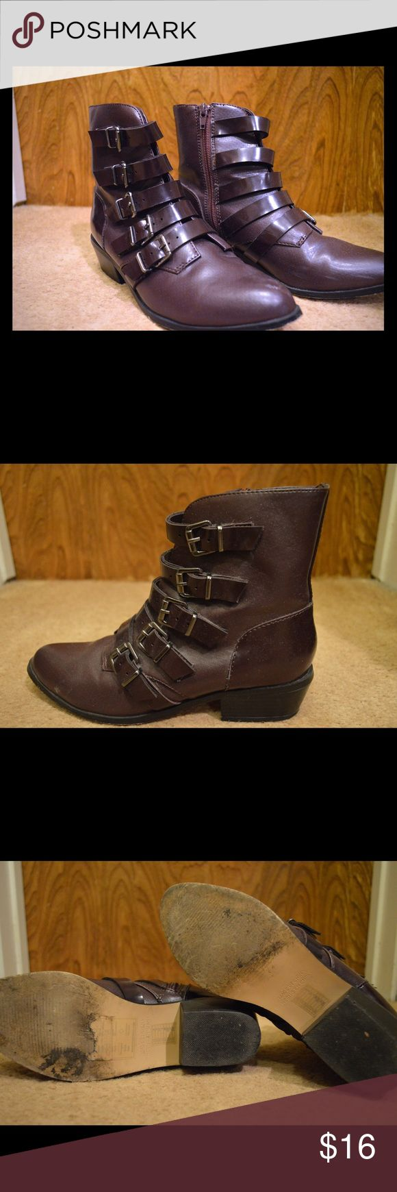 Deep Purple Ankle Boots Add a touch of color to any outfit! From Forever 21, size 6 in women's Forever 21 Shoes Ankle Boots & Booties