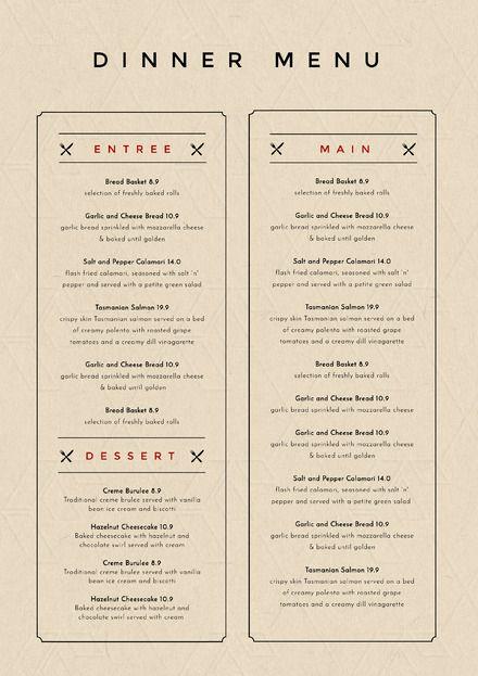 restaurant menu makers
