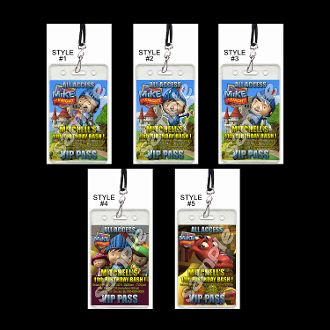 MIKE THE KNIGHT VIP PASSES WITH LANYARDS