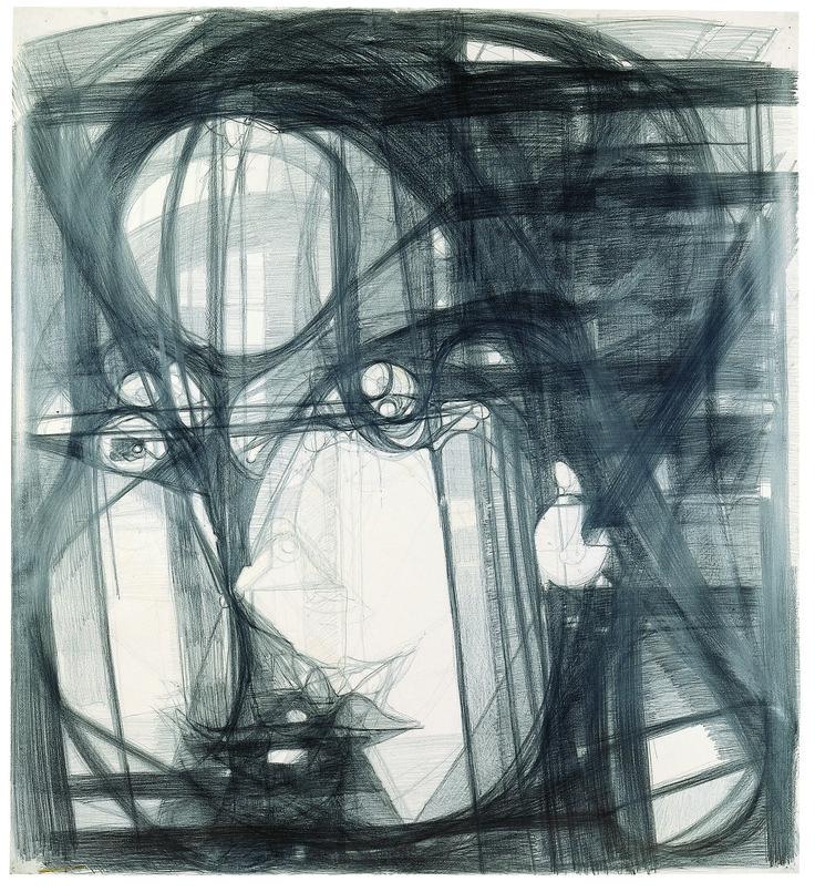 Marisa Merz (Italian, born 1926) Untitled, 1993–96. Graphite on paper 64 1/2 × 59 in. (164 × 150 cm) Kunstmuseum Winterthur, Purchased with funds from the Lottery Fund of the Canton of Zurich, 1999  © Schweizerisches Institut fur Kunstwissenschaft, Zurich, Jean-Pierre Kuhn
