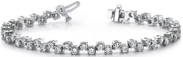 Diamantarmband mit 4.00 Karat Diamanten aus 585er Weißgold bei www.diamantring.be für nur 4650.00 Euro Versandkostenfrei bestellen.