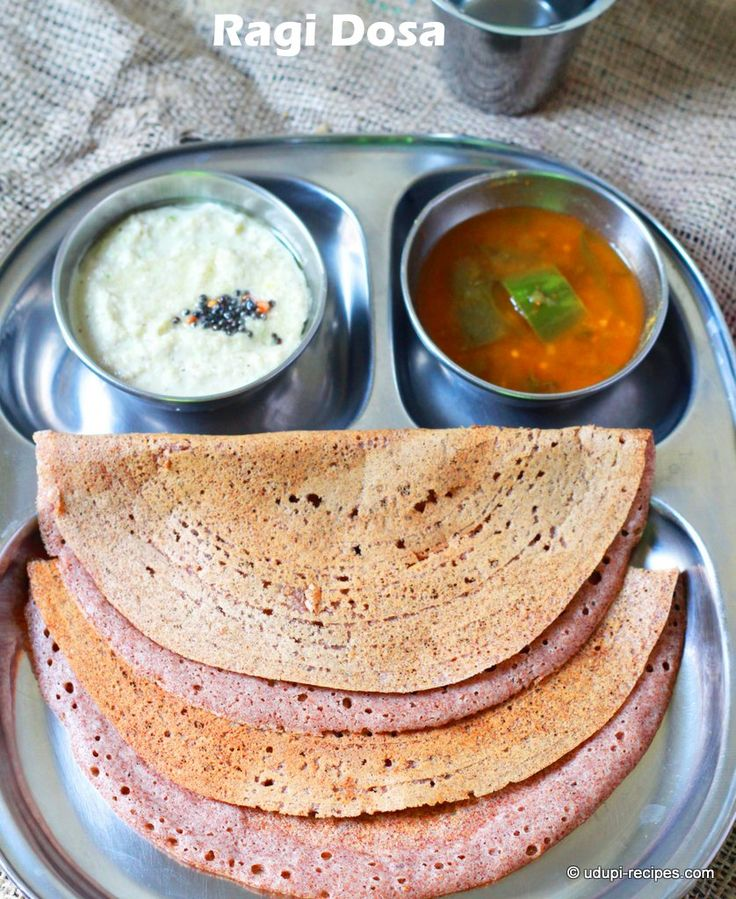 Porous, soft fermented ragi dosa is a good way to re-introduce finger millet to your kids. Growing children must have this nutrient loaded cereal.