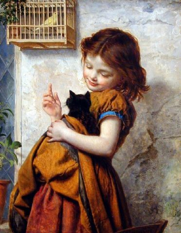 1800-1900s Paul Seignac (French artist, 1826–1904) The Bird