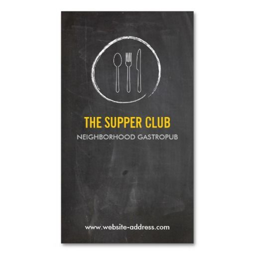 203 best restaurant business cards images on pinterest business fork spoon knife chalkboard logo 2 for restaurant business card templates colourmoves