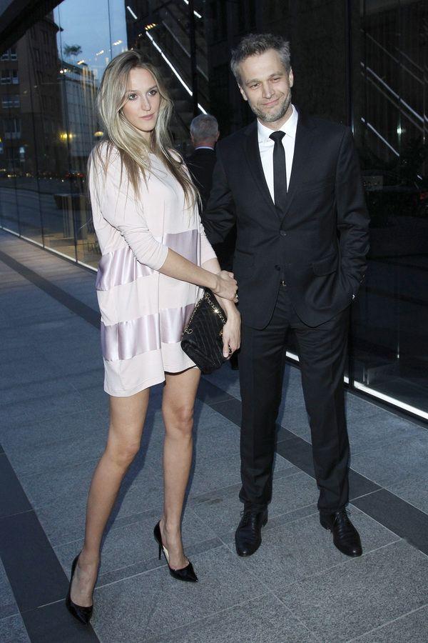 Gwiazdy na otwarciu butiku Louis Vuitton:Aleksandra Żebrowska i Michał Żebrowski, fot. Akpa