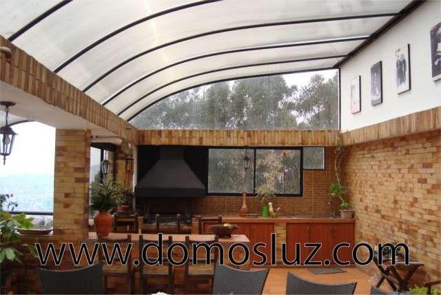 Resultado de imagen para pergolas de madera y for Laminas para techos interiores