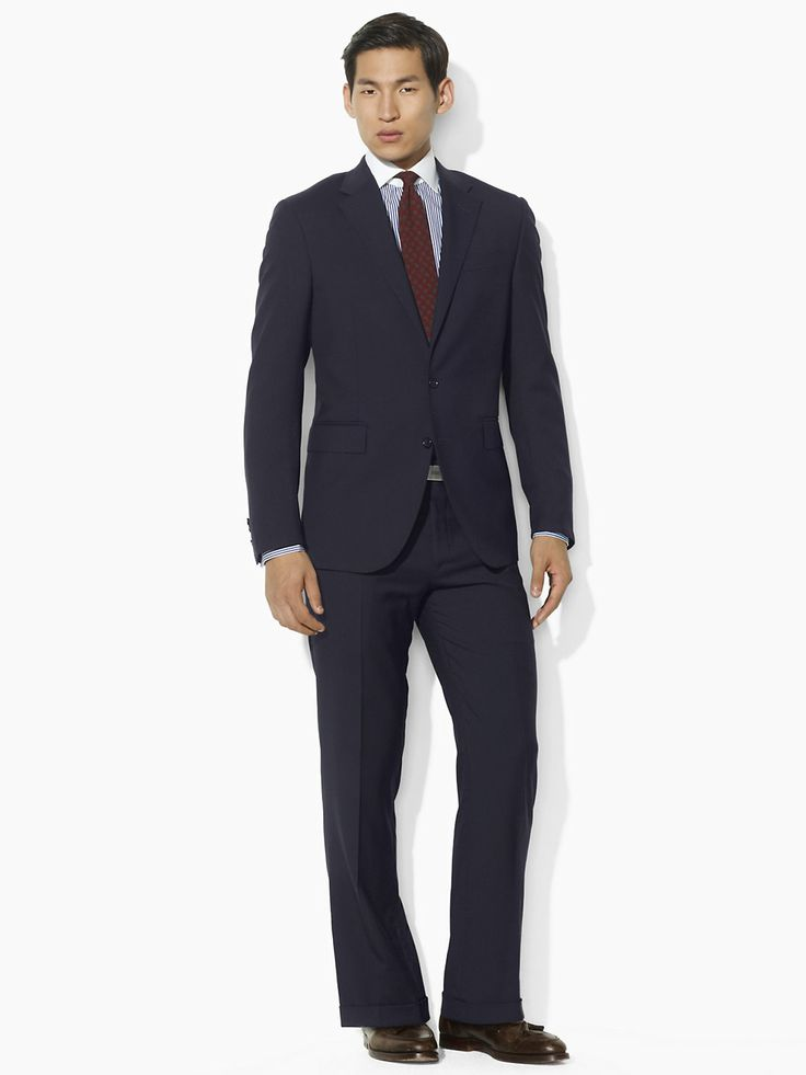 Two-Button Navy Suit - Suits Men - RalphLauren.com ...