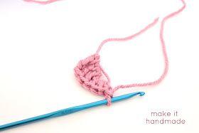 Crochet Heart Magnets Tutorial by Make It Handmade