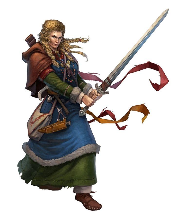 Female Human Bloodrager - Hestrig Orlov - Pathfinder PFRPG DND D&D 3.5 5th ed d20 fantasy