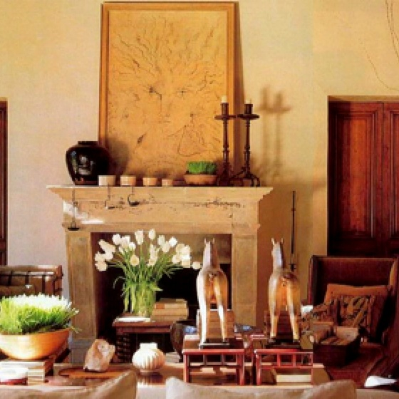 Rose Tarlow.Art Work, Tarlow Design, 17Th Century, Living Room, Century Fireplaces, Design File, Architecture Digest, Rose Tarlow, Jeans Cocteau