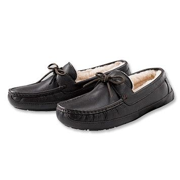 Leather Slippers - Mens UGG Moccasin -- I treat my self to great shoes/slippers  . I work on my feet so it\u0027s important to rest the dogs in comfy shoes/ ...