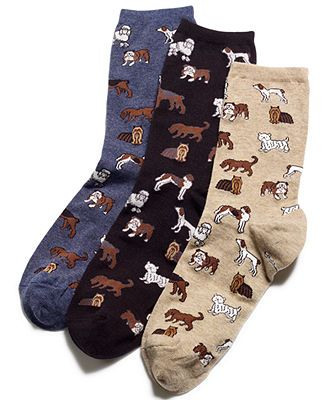 Hot Sox Dogs Trouser Socks HEMP 3 for $15