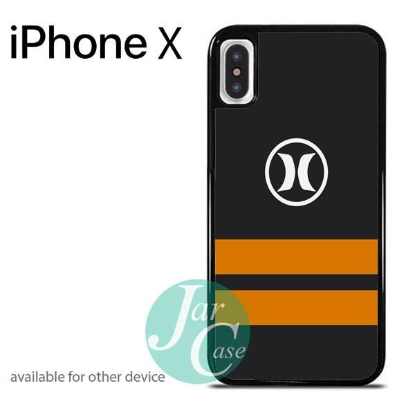 Hurley Orange Strip Phone case for iPhone X