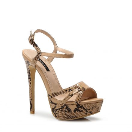 Camel and Boa High Heels – Kiss and Belle Boutique