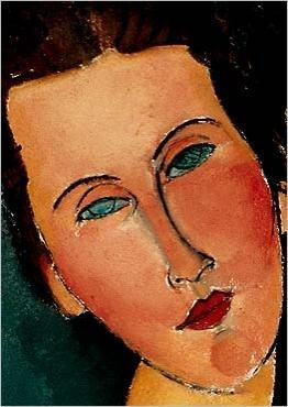 Detail of a Modigliani painting.