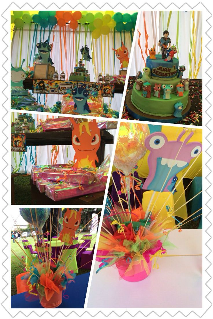 slugTerra themed Party Bajoterra fiesta niños