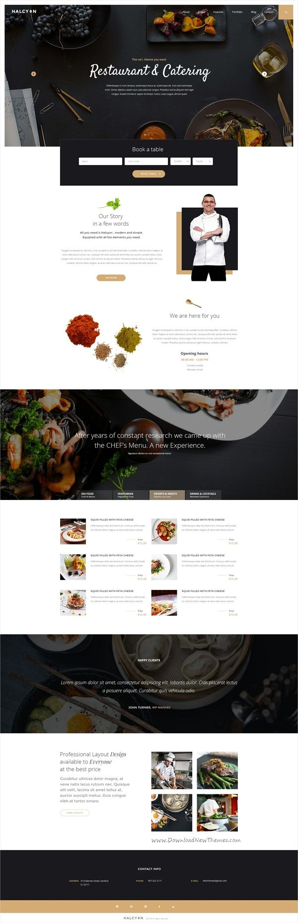 Halcyon is a beautifully design premium #PSD template for stunning #cafe #restaurant website with 30+ multipurpose homepage layouts and 52 organized PSD pages download now➩ https://themeforest.net/item/halcyon-multipurpose-modern-website-psd-template/17535264?ref=Datasata