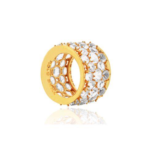 Anel Crystal - folheado em ouro, prata, rose ou prata negra Peça com cristais de 5 e 4 mm Peso: 15 grs Numeração: 14 a 24 Ref: C007 Link: www.gsstore.com.br