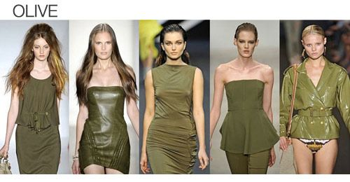 Top color. Womens Spring 2012 trend report, olive