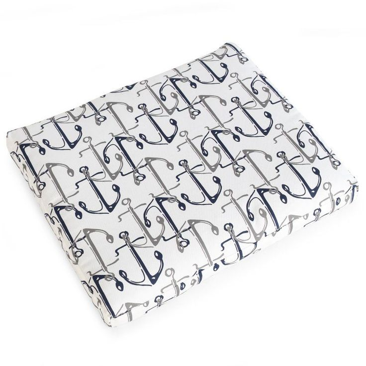 Coral Coast Nautical 19 x 19 in. Outdoor Seat Pad Nautical Anchors - 9412PK1-3785C