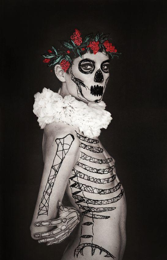 Bordado e aplicações em fotografia no trabalho de Amanda Charchian & Jose Romussi