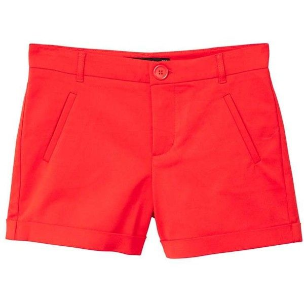 Rolled-Up Hem Shorts (79 PEN) ❤ liked on Polyvore featuring shorts, rolled shorts, roll up shorts, zip shorts, cotton shorts and mango shorts