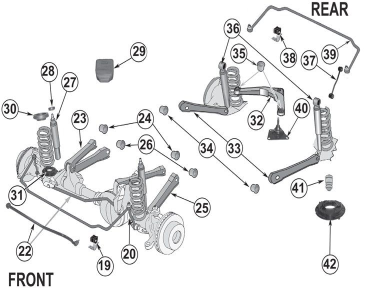 Jeep Grand Cherokee Wj Suspension Parts 99 04 Quadratec
