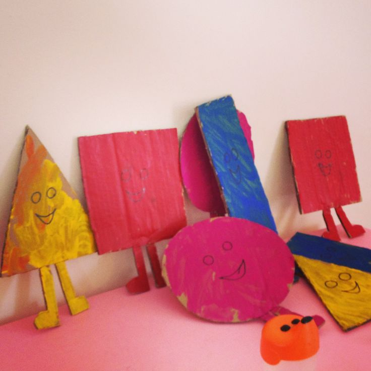 Mr makers- the shapes!! Bit of cardboard and paint :-)
