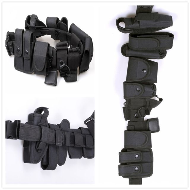 24.64$  Buy here - http://alip1p.shopchina.info/go.php?t=32673333410 - Tactical Police Duty belt Security Belts Tactical Military Training Polices Guard Utility Kit Duty Belt with Pouch Set 24.64$ #buymethat