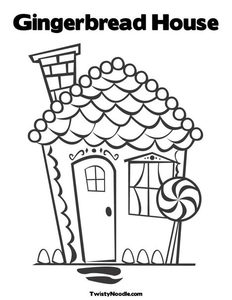 Unusual Gingerbread House Coloring Pages