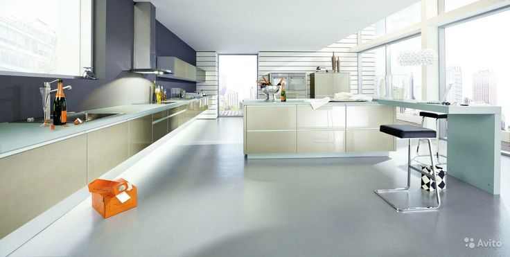 Галерея кухонь в стиле хай-тек, часть 1