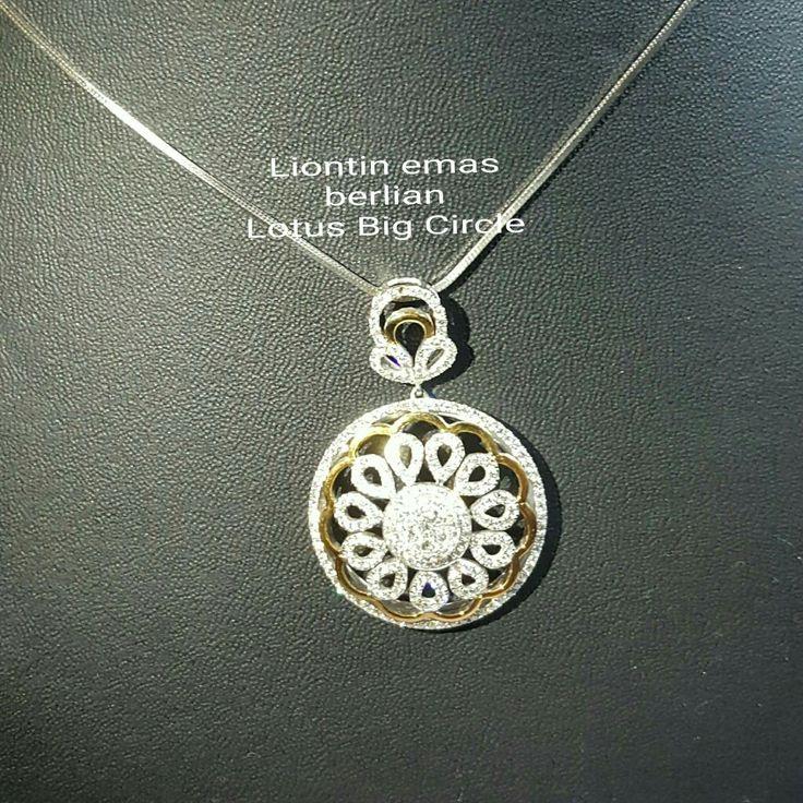 New Arrival🗼. Liontin Emas Berlian Lotus Big Circle💍💎.   🏪Toko Perhiasan Emas Berlian-Ammad 📲+6282113309088/5C50359F Cp.Dewi👩.  https://m.facebook.com/home.php  #investasi #diomond #gold #beauty #fashion #elegant #musthave #tokoperhiasanemasberlian