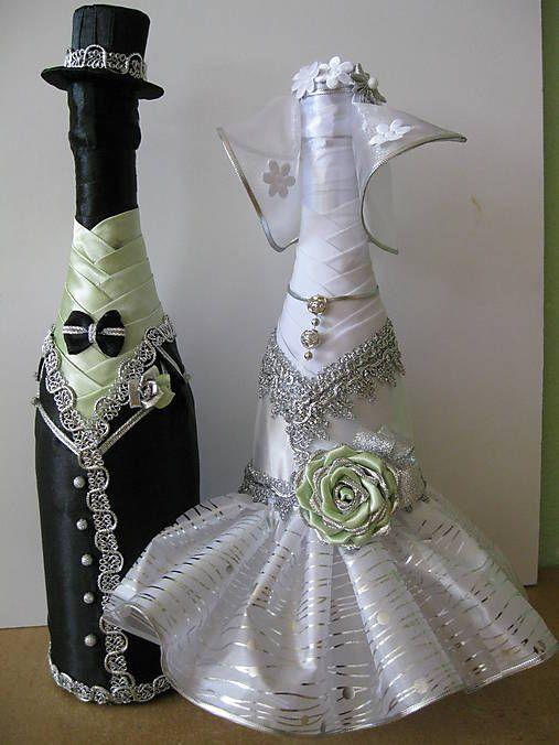 Svadobná fľaša - nevesta
