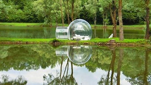 BubbleTrees are portable, prefab dwellings meant for fancy camping trips, but you also could inflate one in your backyard as a see-through garden retreat.
