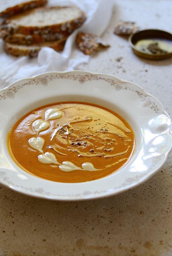 Leftover roast vegetable harissa soup