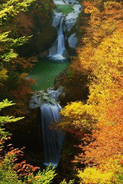 ✯ Jinja Falls - Ojirogawa Ravine  - Yamanashi, Japan