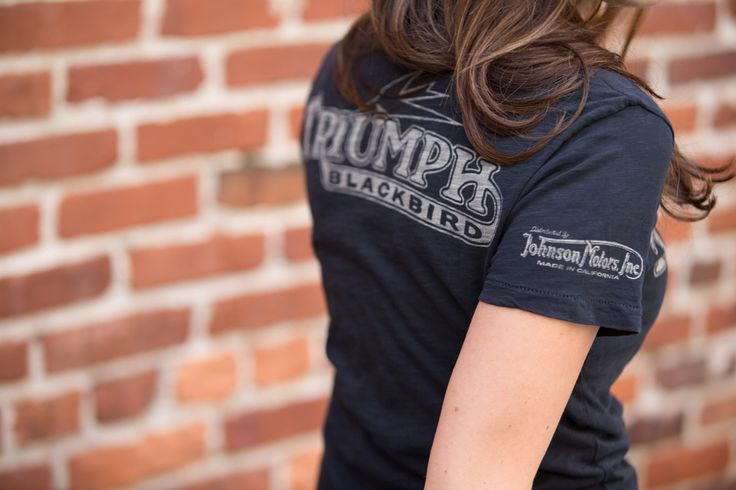 Our new Johnson Motors, Inc. Blackbird Tee features classic vintage graphics on lightweight cotton. Perfect for summer and Made In America. Available at shop.triumphmotorcycles.com (Canada: shop.triumph-motorcycles.ca) and at your Triumph dealers.