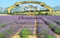 Etiquette champagne mariage Lavande