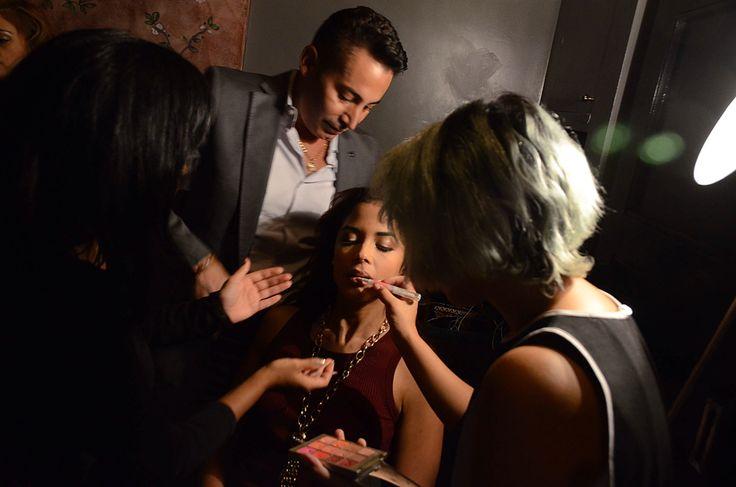 BTS makeup and hair by Marco Maranghello and Oscar Caballero