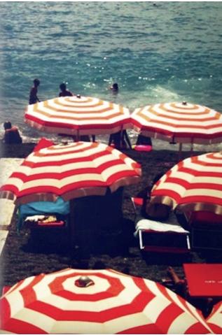 Riviera, red white stripes