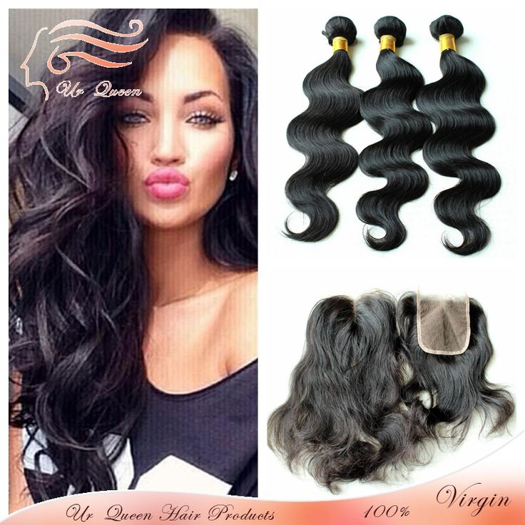 New Arrival virgin peruvian body wave with closure 4pcs lot virgin body wave malaysia hair cheap human hair with lace closure