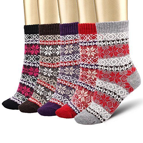 Bemaystar Women's 5 Pack Fashion Plaid-Maple Leaf Wool Socks Bemaystar http://www.amazon.com/dp/B00F1U8D0S/ref=cm_sw_r_pi_dp_Z1Iywb1QWQAV5