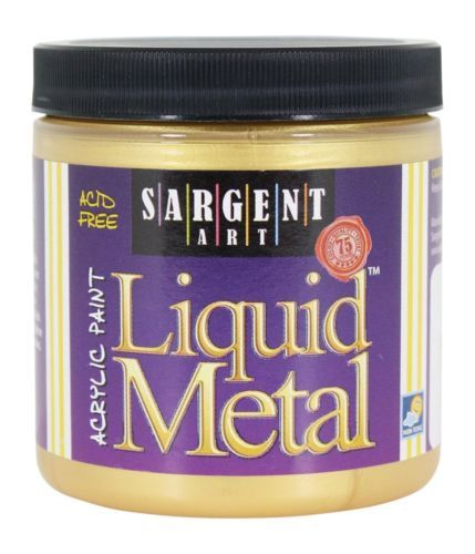 Sargent-Art-22-1181-8-Ounce-Liquid-Metal-Acrylic-Paint-Gold