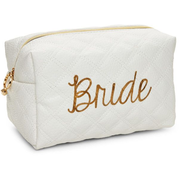 Cul De Sac Bride Makeup Cosmetic Bag (29.240 COP) ❤ liked on Polyvore featuring beauty products, beauty accessories, bags & cases, white, makeup purse, makeup bag case, toiletry bag, travel kit and dop kit