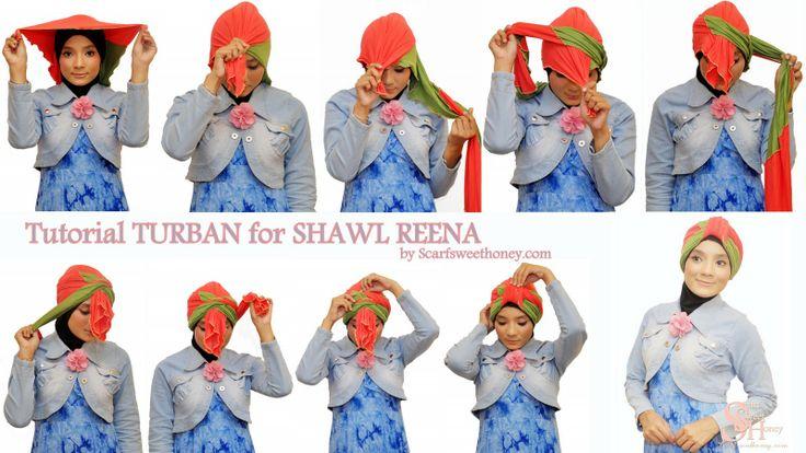 Hijab Tutorial - How to tie a turban.