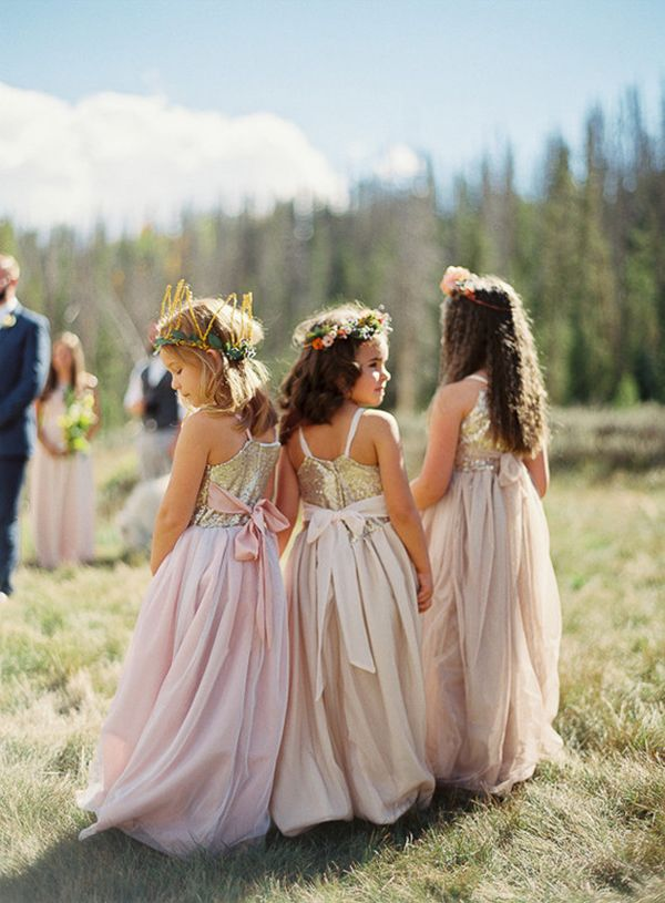 If you are trying to decide if you want a flower girl in your wedding, you will make your decision after seeing these adorable, stylish darlings and might even want to have more than one.