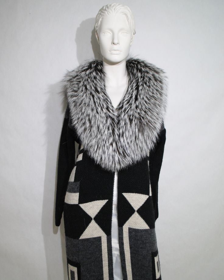 Love this PTfurs silver fox fur collar, really stands out.