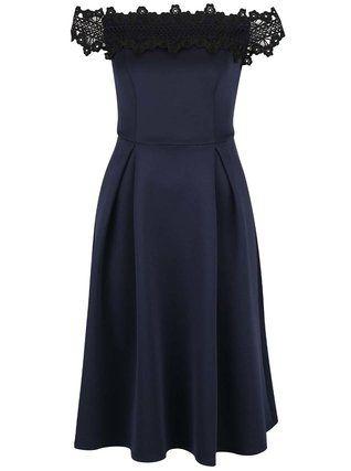 Dorothy Perkins - Tmavě modré šaty s ozdobnou krajkou - 1