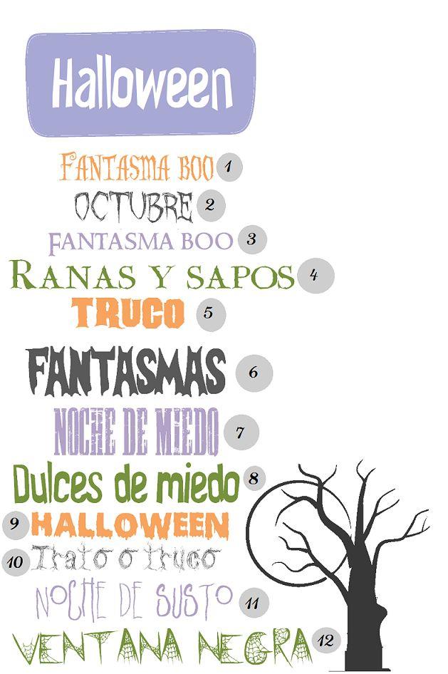 Tipos de letra para halloween | Proyecto Pastelito