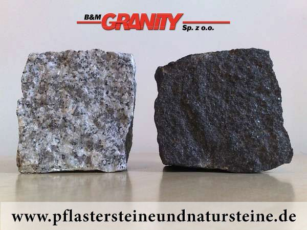 Firma B&M GRANITY - Pflastersteine aus Polen (links) und Schweden (rechts) http://www.pflastersteineundnatursteine.de/fotogalerie/pflastersteine/